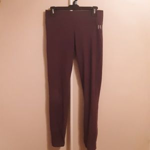VS ANGELS BURGUNDY STRAIGHT LEG LOUNGE PANTS  M